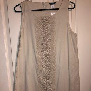 J crew ivory sheath dress